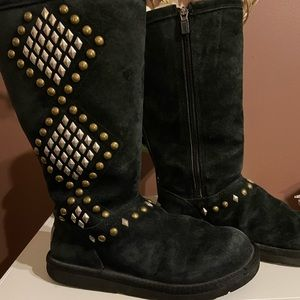 Ugg studded gold and silver women's boots.